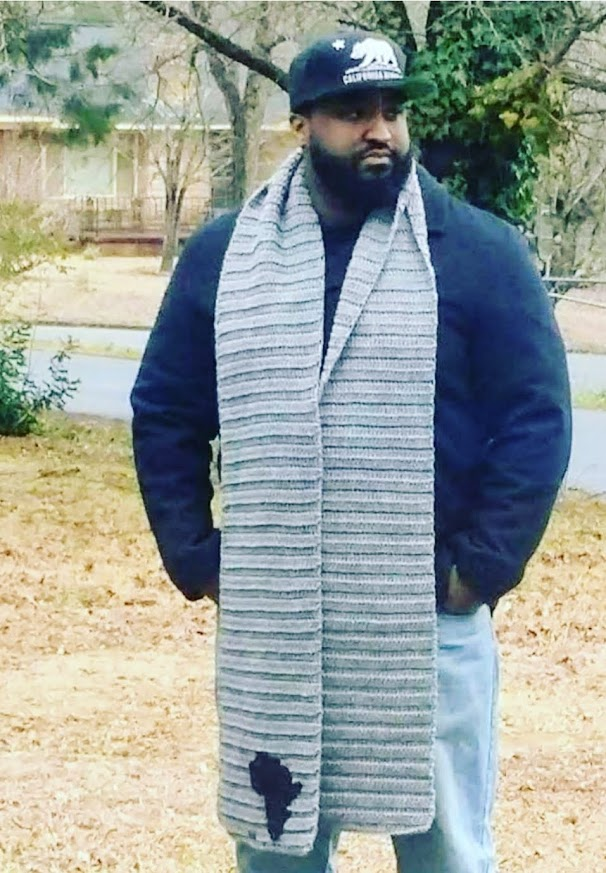 Hand Knit Textured Men's African Scarf