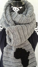 Load image into Gallery viewer, Hand Knit Textured Men's African Scarf