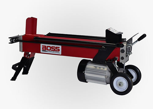 BOSS 5 TON DUAL ACTION ELECTRIC LOG SPLITTER OPERATIONAL VIDEO