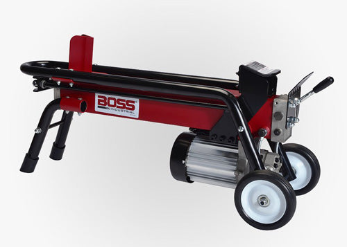 BOSS 7 TON DUAL ACTION ELECTRIC LOG SPLITTER OPERATIONAL VIDEO