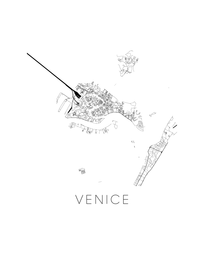 Italy Map Black And White.Venice Map Black And White Print Italy Black And White Map Print
