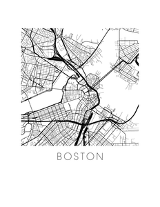 Boston Map Print
