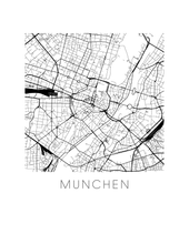 Munich Map Print