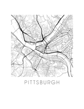 Pittsburgh Map Print