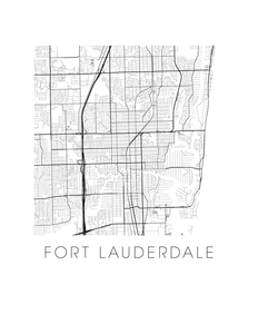Fort Lautherdale Map Print