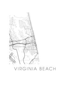 Virginia Beach Map Print