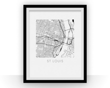 St Louis Map Print