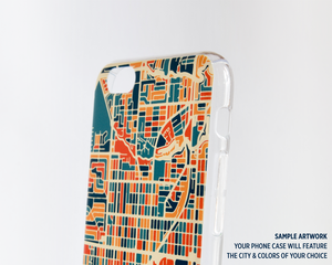 Glasgow Map Phone Case - iPhone 5, iPhone 6, iPhone 7