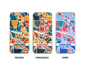 Rawalpindi Map Phone Case - iPhone 5, iPhone 6, iPhone 7