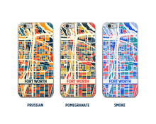 Fort Worth Map Phone Case - iPhone 5, iPhone 6, iPhone 7