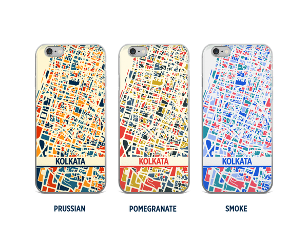 Kolkata Map Phone Case - iPhone 5, iPhone 6, iPhone 7