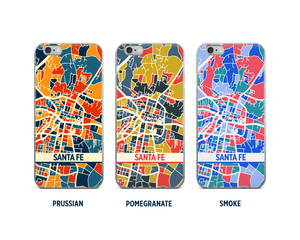 Santa Fe Map Phone Case - iPhone 5, iPhone 6, iPhone 7