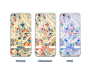 Manila Map Phone Case - iPhone 5, iPhone 6, iPhone 7