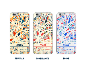 Osaka Map Phone Case - iPhone 5, iPhone 6, iPhone 7
