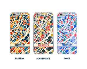 Brussels Map Phone Case - iPhone 5, iPhone 6, iPhone 7