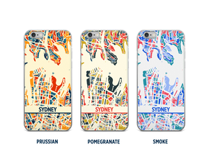 Sydney Map Phone Case - iPhone 5, iPhone 6, iPhone 7