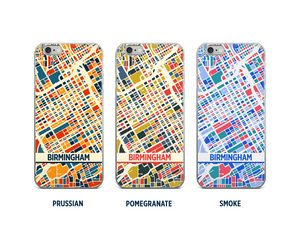 Birmingham AB Map Phone Case - iPhone 5, iPhone 6, iPhone 7