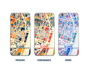 St Louis Map Phone Case - iPhone 5, iPhone 6, iPhone 7