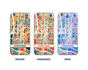 Colorado Springs Map Phone Case - iPhone 5, iPhone 6, iPhone 7