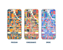 Santa Ana Map Phone Case - iPhone 5, iPhone 6, iPhone 7