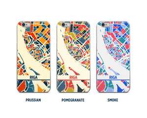 Riga Map Phone Case - iPhone 5, iPhone 6, iPhone 7