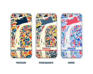 Prague Map Phone Case - iPhone 5, iPhone 6, iPhone 7