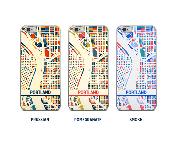 Portland Map Phone Case - iPhone 5, iPhone 6, iPhone 7