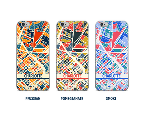 Charlotte Map Phone Case - iPhone 5, iPhone 6, iPhone 7
