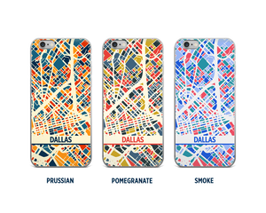 Dallas Map Phone Case - iPhone 5, iPhone 6, iPhone 7