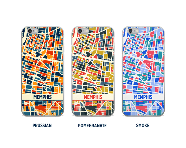 Memphis Map Phone Case - iPhone 5, iPhone 6, iPhone 7
