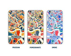 Wilmington DE Map Phone Case - iPhone 5, iPhone 6, iPhone 7