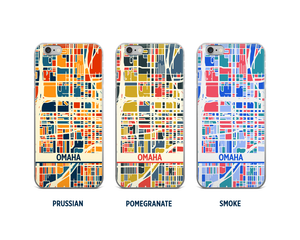 Omaha Map Phone Case - iPhone 5, iPhone 6, iPhone 7