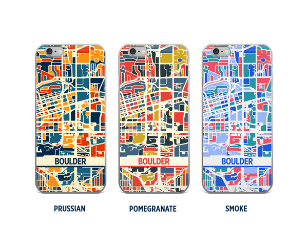 Boulder Map Phone Case - iPhone 5, iPhone 6, iPhone 7