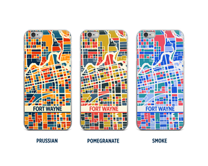Fort Wayne Map Phone Case - iPhone 5, iPhone 6, iPhone 7