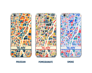 Tel Aviv Map Phone Case - iPhone 5, iPhone 6, iPhone 7