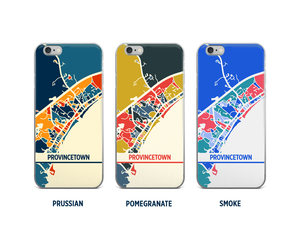 Provincetown Map Phone Case - iPhone 5, iPhone 6, iPhone 7