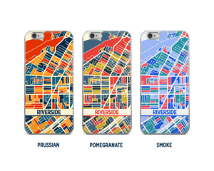 Riverside Map Phone Case - iPhone 5, iPhone 6, iPhone 7
