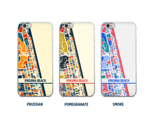 Virginia Beach Map Phone Case - iPhone 5, iPhone 6, iPhone 7
