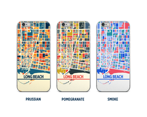 Long Beach Map Phone Case - iPhone 5, iPhone 6, iPhone 7