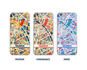 Valencia Map Phone Case - iPhone 5, iPhone 6, iPhone 7