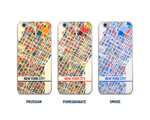 New York City Map Phone Case - iPhone 5, iPhone 6, iPhone 7