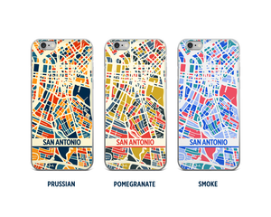 San Antonio Map Phone Case - iPhone 5, iPhone 6, iPhone 7