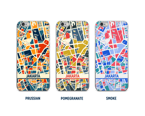 Jakarta Map Phone Case - iPhone 5, iPhone 6, iPhone 7