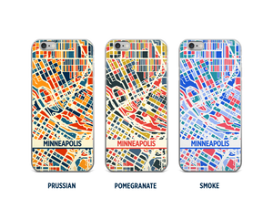 Minneapolis Map Phone Case - iPhone 5, iPhone 6, iPhone 7