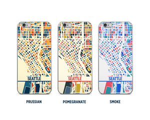 Seattle Map Phone Case - iPhone 5, iPhone 6, iPhone 7