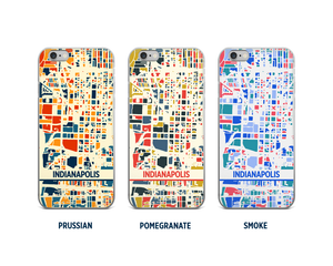 Indianapolis Map Phone Case - iPhone 5, iPhone 6, iPhone 7
