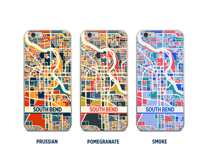 South Bend Map Phone Case - iPhone 5, iPhone 6, iPhone 7