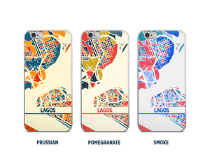 Lagos Map Phone Case - iPhone 5, iPhone 6, iPhone 7