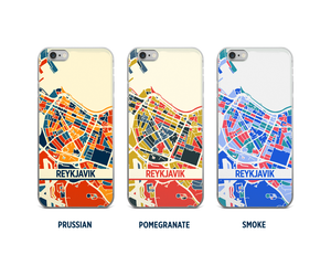 Reykjavik Map Phone Case - iPhone 5, iPhone 6, iPhone 7