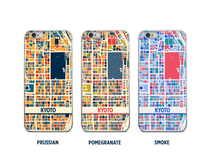 Kyoto Map Phone Case - iPhone 5, iPhone 6, iPhone 7